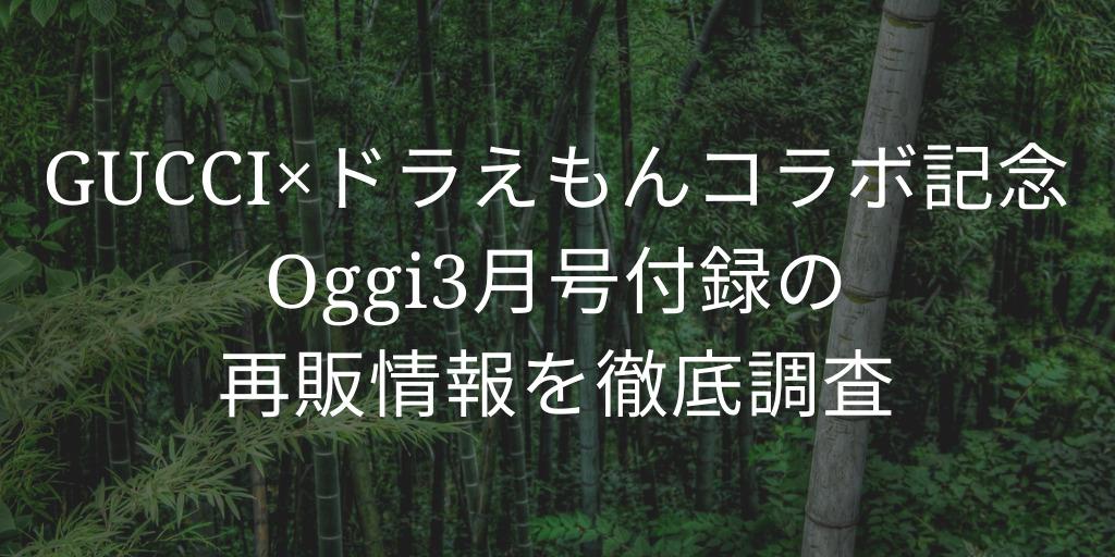 オッジ3月号のGuccI付録再販(再入荷)情報